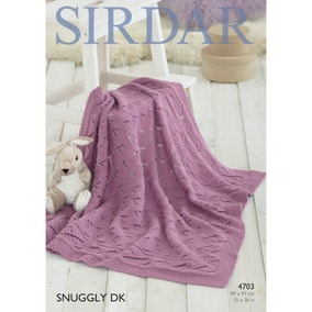 Sirdar 4703 Snuggly DK Comfy Blanket Leaflet