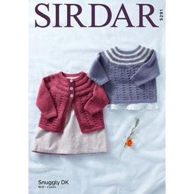 Sirdar 5291 Snuggly DK Patterned Cardigan and Jumper  Leaflet