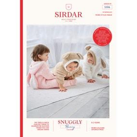 Sirdar 5306 Snuggly Bunny Cuddly All in One  Leaflet