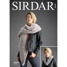 Sirdar 8278 Alpine Scarves Snoods and Cowls Leaflet