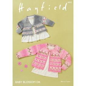 Hayfield 4842 Hayfield Blossom DK Pretty Floral Cardigans  Leaflet