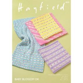 Hayfield 4840 Hayfield Blossom DK Floral Baby Blankets  Leaflet