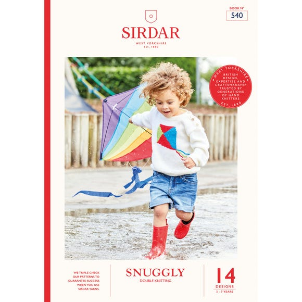 Sirdar 540 Snuggly Brights Knitting Pattern Book MultiColoured