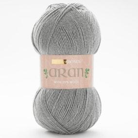 Hayfield Bonus Aran Celtic Grey Wool