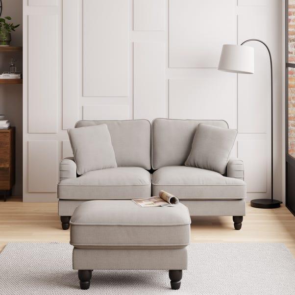 Beatrice Boucle 2 Seater Sofa Light Grey