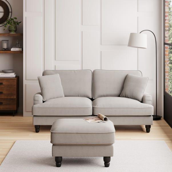 Beatrice Boucle 3 Seater Sofa Light Grey