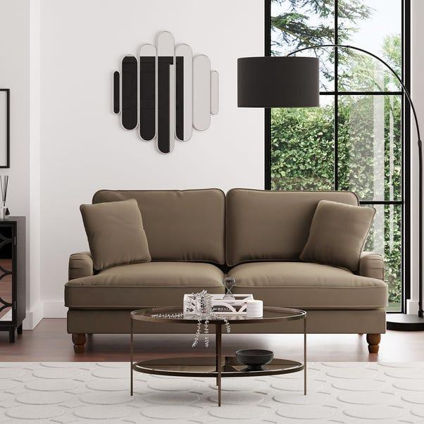 Beatrice Velvet 3 Seater Sofa Taupe