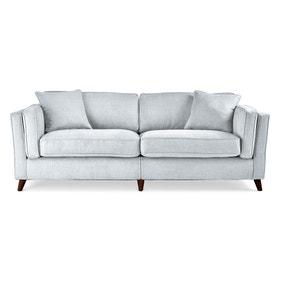 Arabella 4 Seater Sofa Brushed Plain Fabric