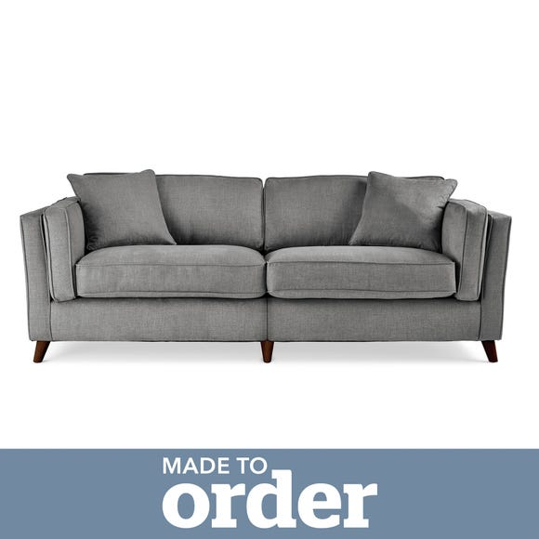 Arabella 4 Seater Sofa Brushed Plain Fabric Brushed Plain Graphite