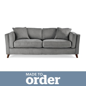 Arabella 3 Seater Sofa Brushed Plain Fabric