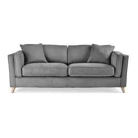 Arabella 3 Seater Sofa Brushed Plain Fabric