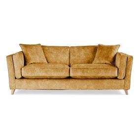 Arabella 3 Seater Sofa Slub Velvet