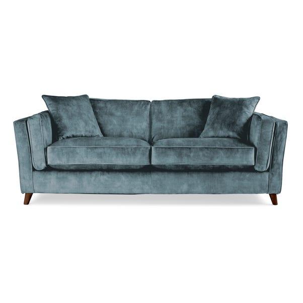 Arabella 3 Seater Sofa Slub Velvet Slub Velvet Steel Blue