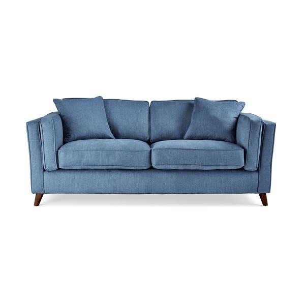 Arabella 2 Seater Sofa Brushed Plain Fabric Brushed Plain Cobalt