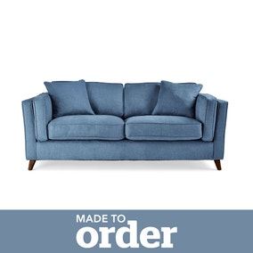 Arabella 2 Seater Sofa Brushed Plain Fabric