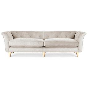 Jaipur 4 Seater Sofa Brushed Plain Fabric