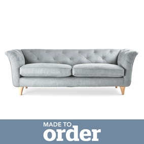 Jaipur 3 Seater Sofa Brushed Plain Fabric
