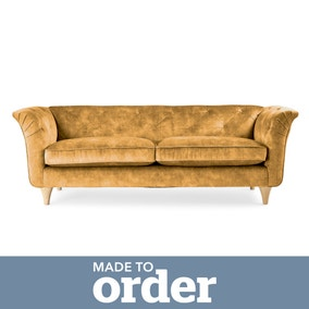 Jaipur 3 Seater Sofa Slub Velvet