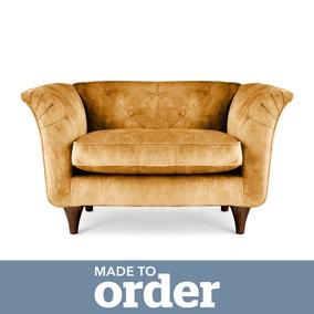 Jaipur Snuggle Chair Slub Velvet