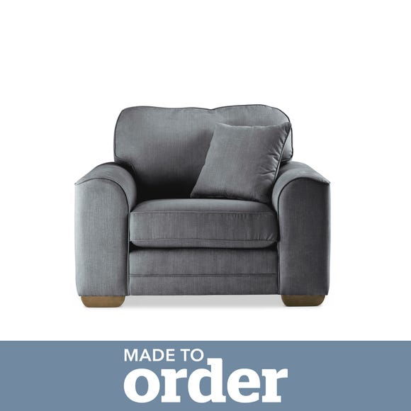 Morello Armchair Brushed Plain Fabric Brushed Plain Pewter