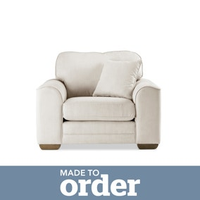 Morello Armchair Brushed Plain Fabric