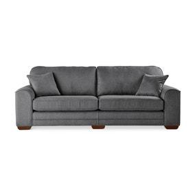 Morello 4 Seater Sofa Brushed Plain Fabric