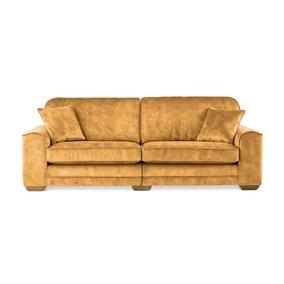 Morello 4 Seater Sofa Slub Velvet