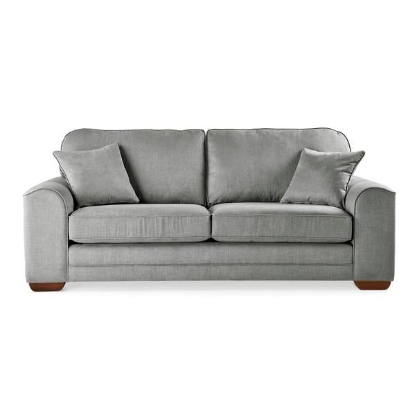 Morello 3 Seater Sofa Brushed Plain Fabric Brushed Plain Graphite