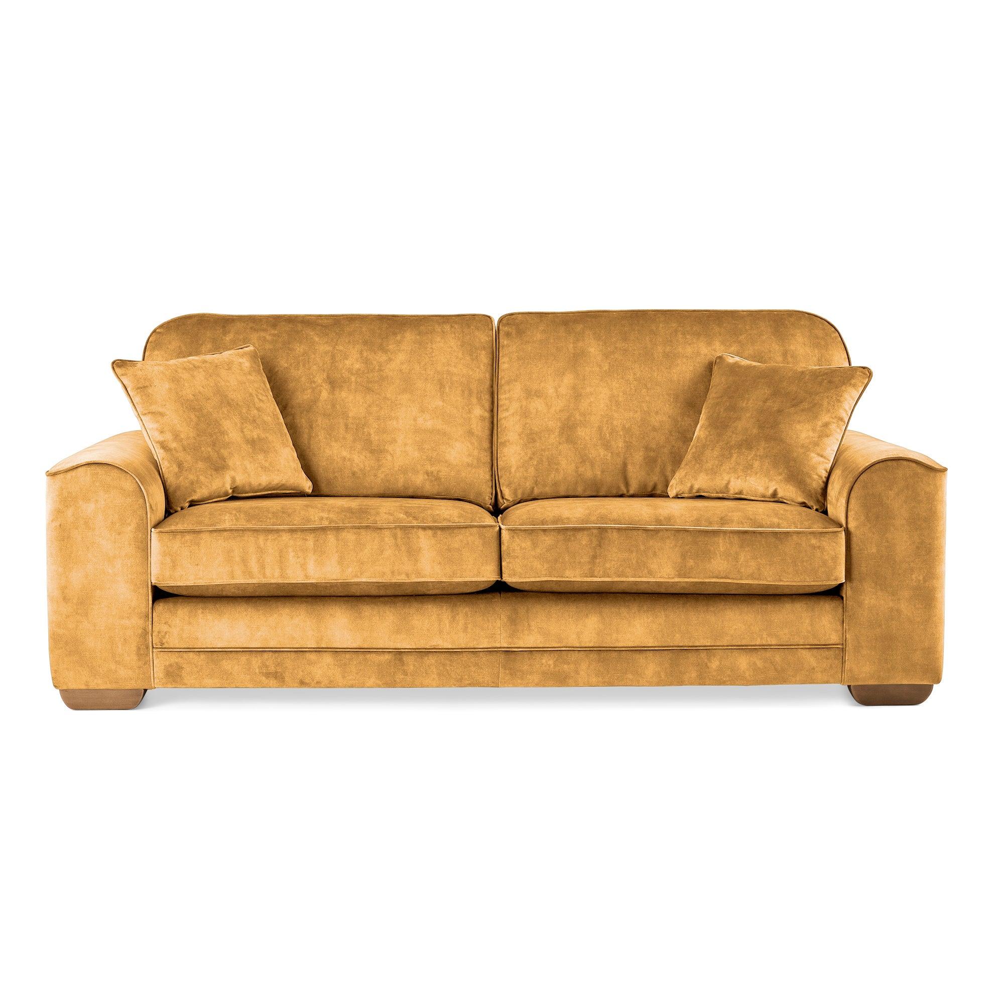 Morello 3 Seater Sofa Slub Velvet Slub Velvet Mustard