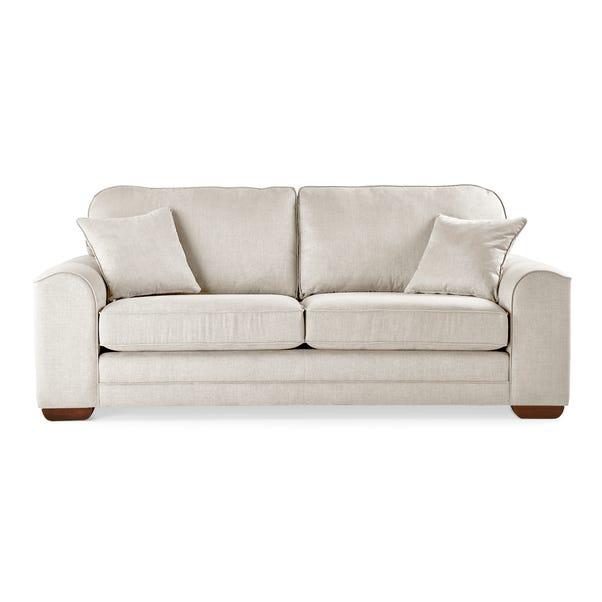 Morello 3 Seater Sofa Brushed Plain Fabric Brushed Plain Silk