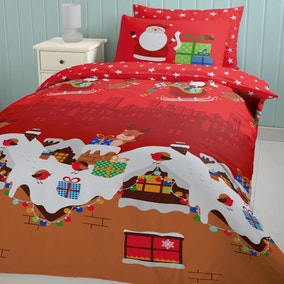 Catherine Lansfield Santas Christmas Presents Duvet Cover and Pillowcase Set