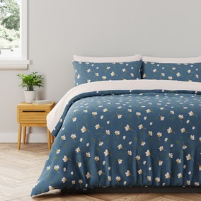 Casey Floral 100% Cotton Reversible Duvet Cover and Pillowcase Set