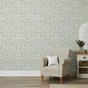 Woodland Sage Wallpaper