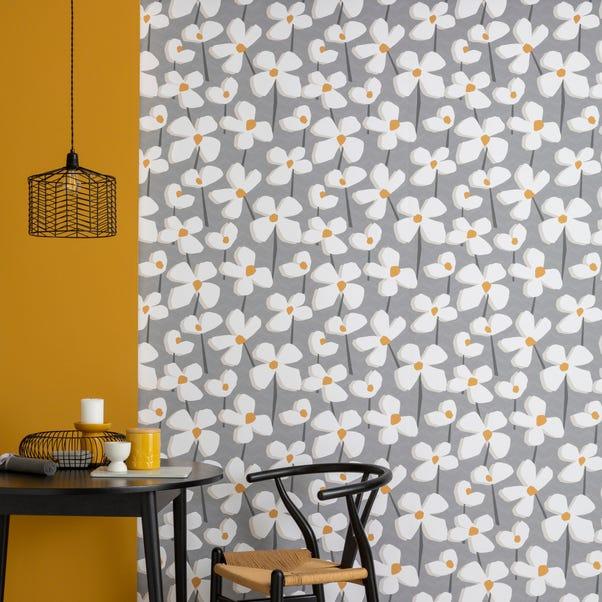 Elements Lena Grey Wallpaper Grey
