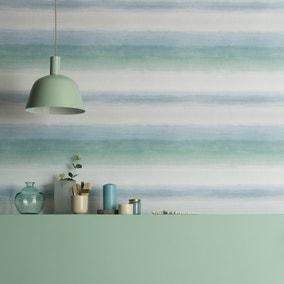Washy Stripe Seafoam Wallpaper