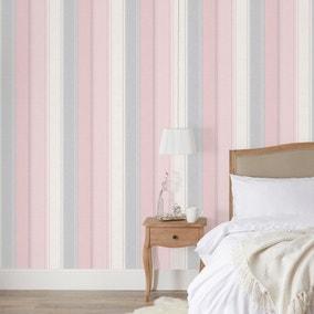 Ellis Stripe Blush Wallpaper