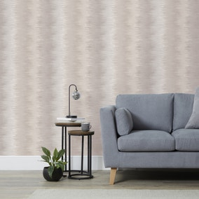 Feathered Stripe Neutral Wallpaper