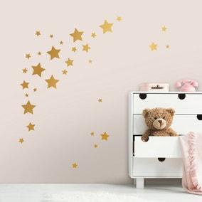 Gold Stars Medium Wall Stickers