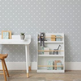Stars Grey Wallpaper