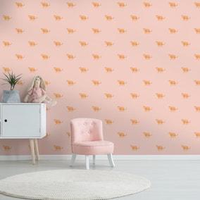 Big Cats Leopard Pink Wallpaper