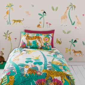 Equatorial Jungle Animals Large Wall Stickers