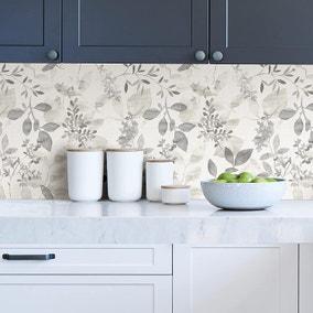 NuWallpaper Breezy Grey Self Adhesive Wallpaper