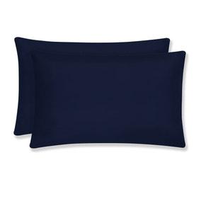 Super Soft Navy Housewife Pillowcase Pair