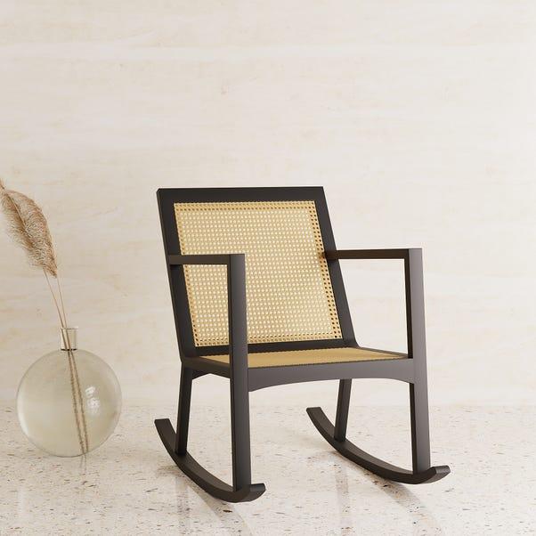 Miki Cane Rocking Chair Black