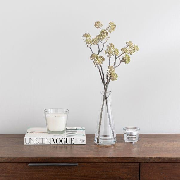 Autumn Elderberry in Glass Vase 42cm Natural