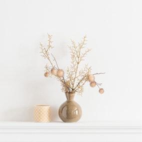 Pom Pom Arrangement in Ceramic Pot