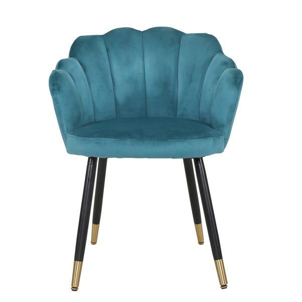 Vivian Velvet Chair Peacock