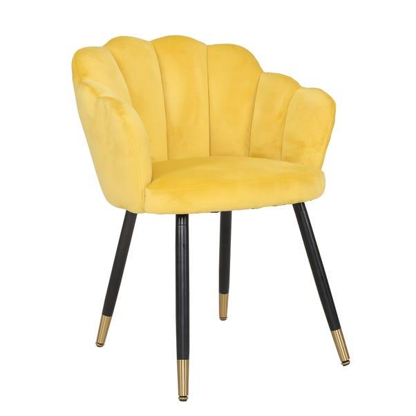 Vivian Velvet Chair Old Gold