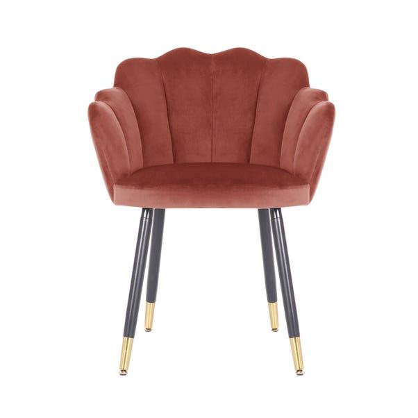 Vivian Velvet Chair Brilliant Rose