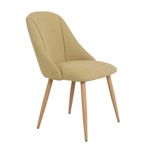 Luna Set of 2 Dining Chairs Ochre